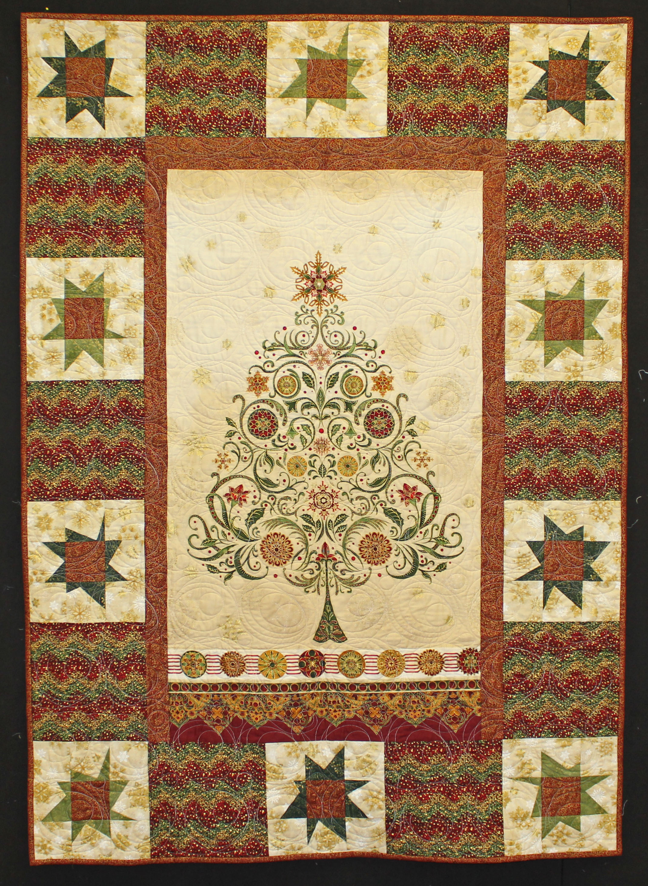 Quilt Ideas For Panels : 31 Days of Holiday Gifts: Day 27 Winter s Grandeur Panel Quilt Quilter s Way Blog